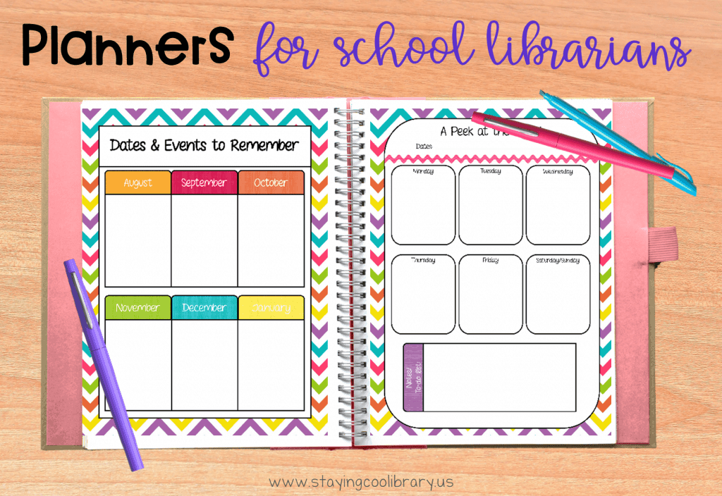 Planners for school librarians