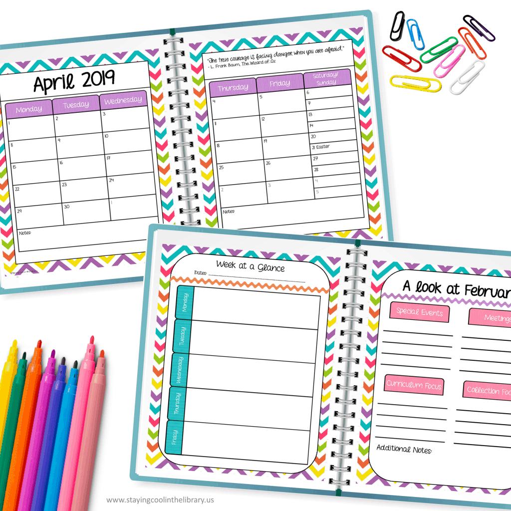 Library planner calendars