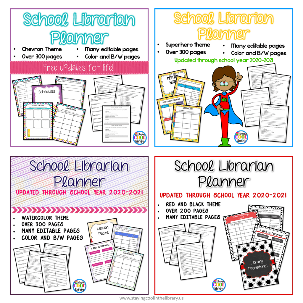 School library planners for elementary librarians