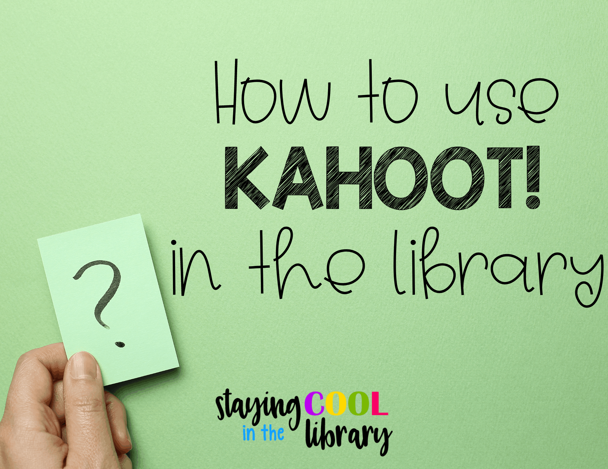 kahoot in the library